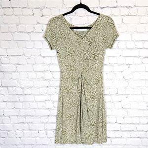 Athleta Honey Dress in Green Olives Print XS